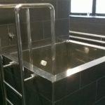 Nerezový bazének do sauny
