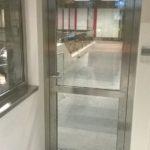 Dveře nerez - kartáč